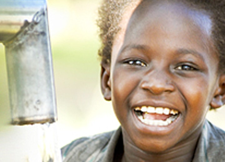 World Vision happy child