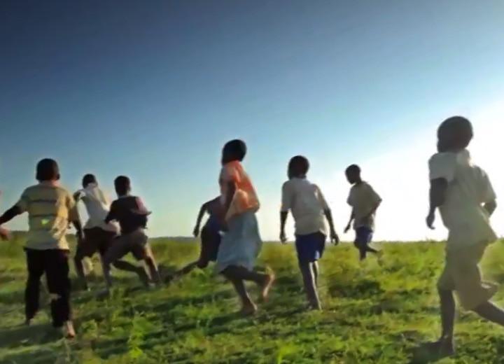 happy children running World Vision